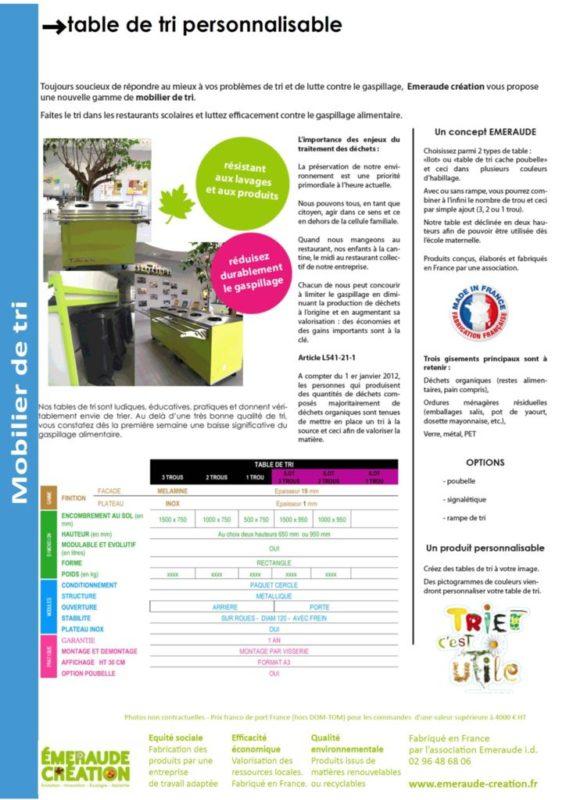 thumbnail of Table de tri